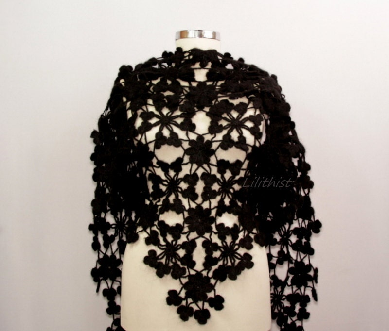Long Sleeve Lace Shawl