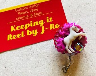 Beautiful magical unicorn themed badge reel