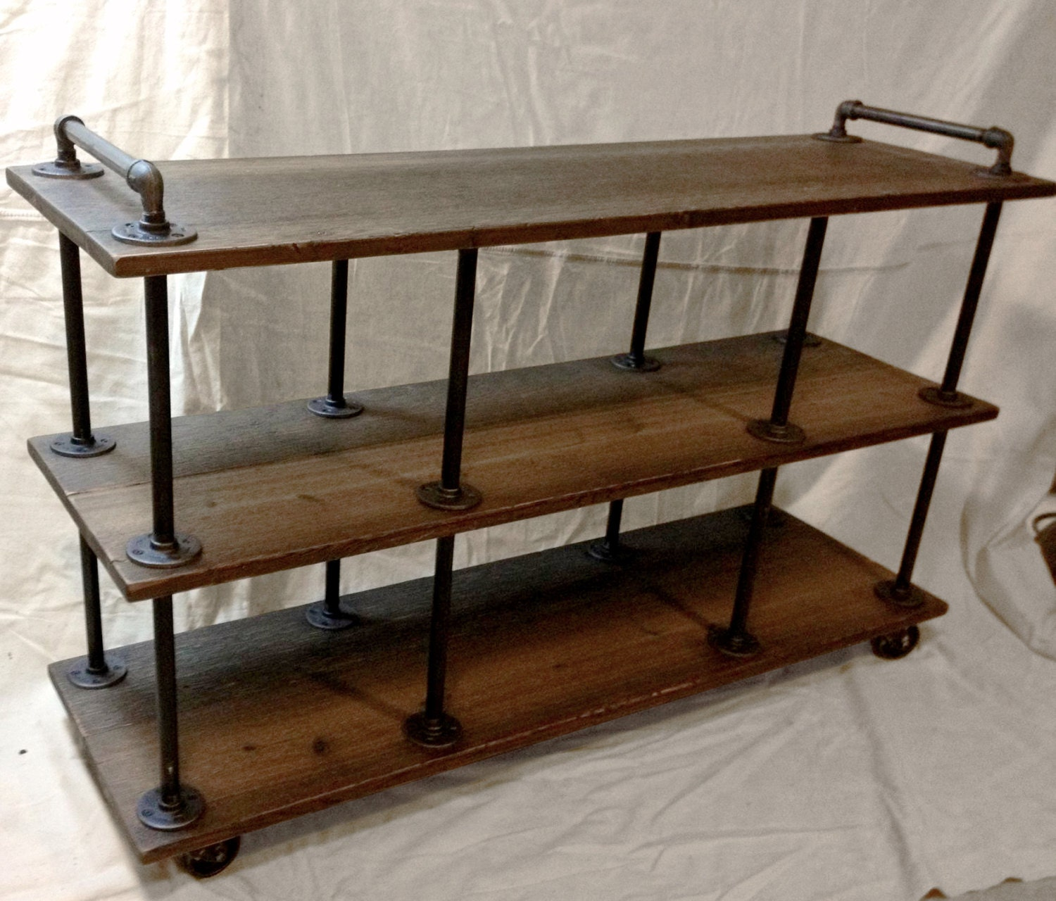 Industrial tv stand iron and wood for 46 to 52 - Mobiliario vintage industrial ...