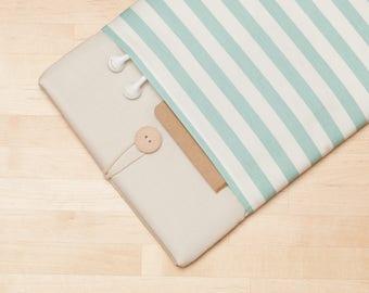 iPad Pro 12.9 case, iPad Pro 12.9 sleeve, 12.9 inch iPad Pro case,  iPad Pro cover - Mini cream stripes