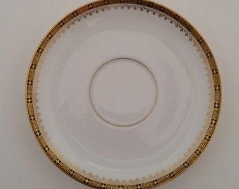 Rosenthal Thomas China Saucers/THO691/White and Gold China Saucers/Gold and Black & Thomas for rosenthal   Etsy