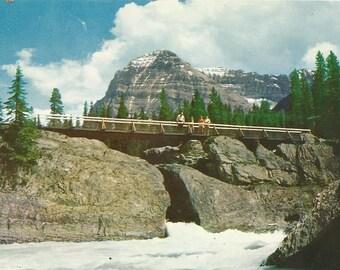 Vintage 1960s Postcard Field British Columbia BC Canada Mount Stephen Natural Bridge Rocky Mountains Scenic Photochrome Postally Unused