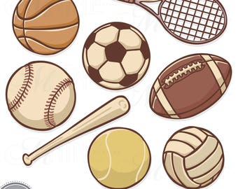 sports sticker clip art sports ball clipart downloads rh etsy com sports clipart outline sports clipart outline