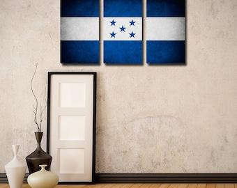 Honduras Flag Triptych (w/ Free Shipping!)