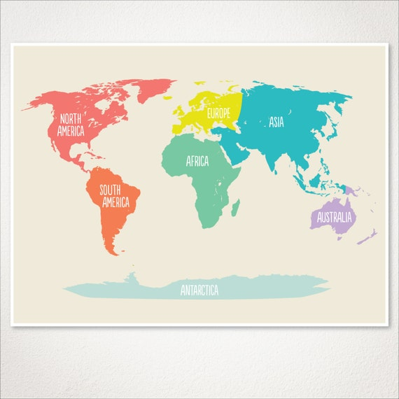 World map kids nursery room decor baby nursery art playroom gumiabroncs Image collections