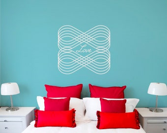 Love wall decal, eternal love wall sticker, word decal, FREE SHIPPING
