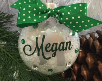 Field Hockey Goalie Ornament, Personalized, Monogrammed