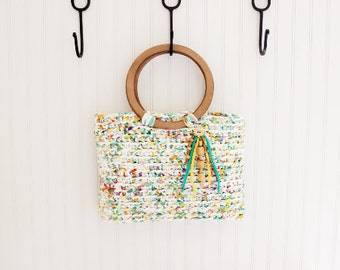 Multi Color Handmade Crochet Handbag