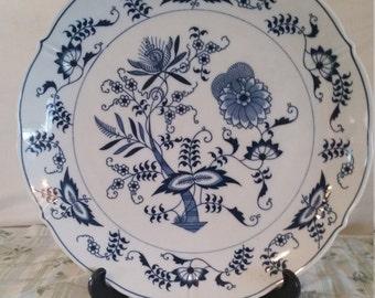 Blue danube 14 inch chop plate/blue danube/blue and white platter/blue danube/blue and white chop plate/blue and white dish