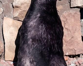 Giant Black Schnauzer Minky Plush Pillow