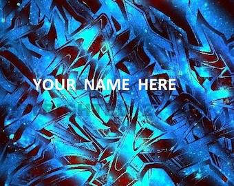 Custom Graffiti Canvas Name