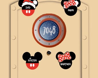 Santa & Mrs. Clause Disney Cruise Add-On to Existing order, Not Yet Shipped Little Mickey and Minnie Personal Disney Cruise Magnets