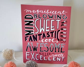 Card Bundle, Hand-Lettered Cards, Hand-Lettering, Greeting Cards, Cute Cards,