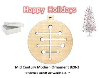 820-3 Mid Century Modern Christmas Ornament