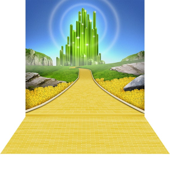 Emerald city photo backdrop with floor optional high for Emerald city nickname