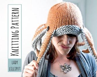 PATTERN - Knit Octopus Hat