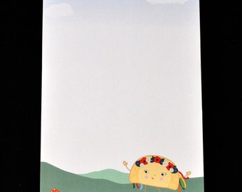 Note Pad with Ukrainian Dancing Perogy (Varenyk) - memo notepad kawaii stationery ecofriendly gift - Flower Wreath Headband