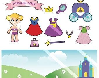 Princess Paper Doll Printable PDF - Personal Use