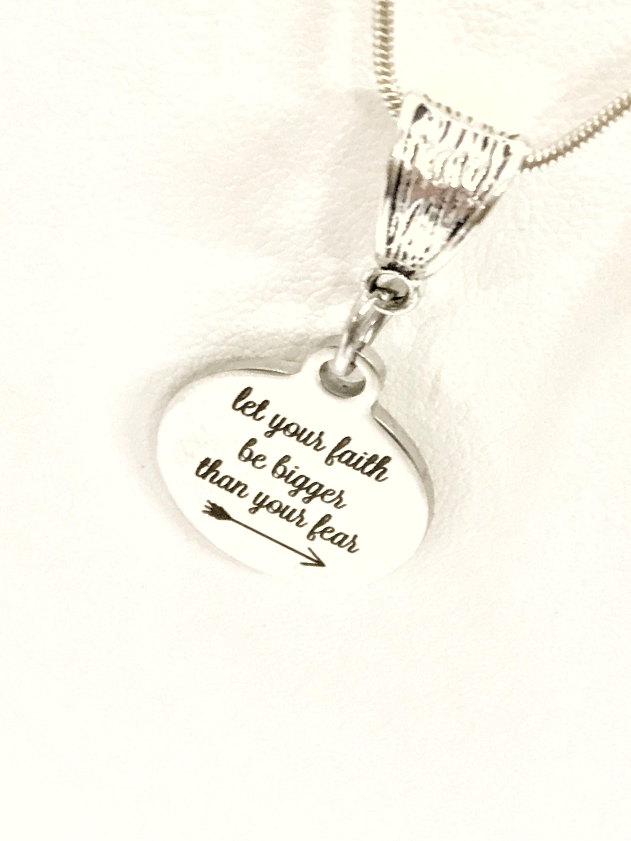 silver pendant products script plain faith necklace sterling lovely aeravida details message pn necklaces