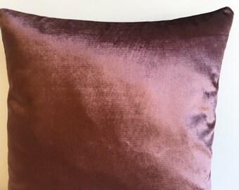Brown Velvet Pillow Cover, Pillow Velvet, 18X18 Brown Pillow, Designer Pillow, Velvet Pillows, Velvet Cushion Covers, Brown Sofa Pillow