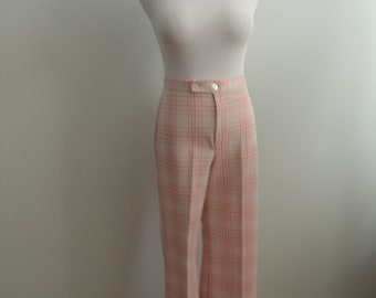 1970's Pink Plaid Pants