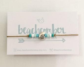 beach anklet, boho jewelry, friendship bracelet