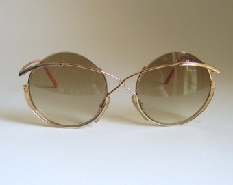 Casanova by Taxi vintage sunglasses, NOS, made in the 80's in Italy. Round frame.