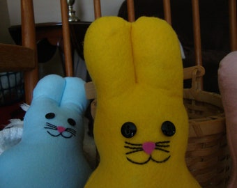 Yellow  Plush Marshmallow Bunny Felt Stuffed Animal Toy