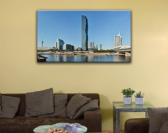 "Donau City, Vienna (10"" x 18"") - Canvas Wrap Print"