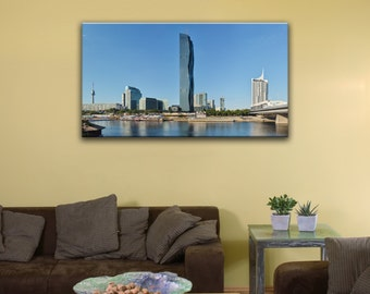"Donau City, Vienna (12"" x 20"") - Canvas Wrap Print"