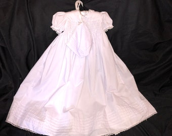 Baby (6Mo) Christening Gown and Bonnett