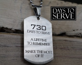 LDS Missionary Gift, LDS Mission, Missionary Dog Tag, Days to Serve Dog Tag, Days to Serve