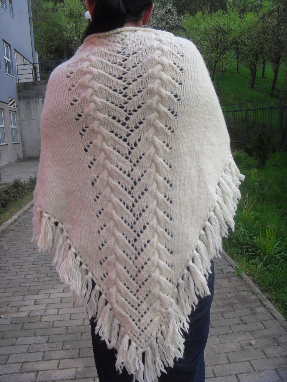 Knitting pattern for shawl Pattern for women Gift pattern Shawl fish ...