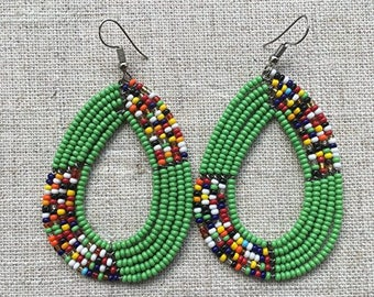 African beaded earring