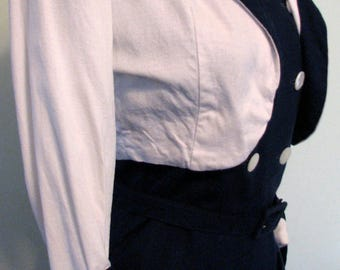 1940s Suit Dress with Bolero Nautical New Look Patriotic Suit