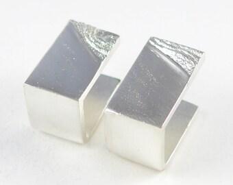 Desert Wave Cufflinks in sterling silver