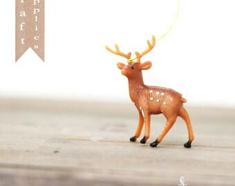 Vintage Style Retro Miniature Plastic Deer