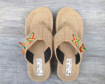 Summer men's slippers-Men sandals-Straw sandals-sandals-Summer sandals men'shoes
