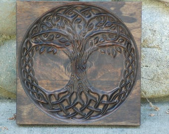 Mother And Child Knot Wood Carved Celtic Knot Of Mothers