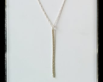 Gold filled or sterling silver hammered handmade  spike necklace