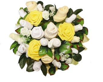 Beautiful Baby Clothes Bouquet - New Baby or Baby Shower Gift for a Girl or Boy
