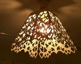 chandelier lamp shade applique hearts