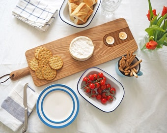 Large oak platter board - Platter stand - Large Solid Oak Serving Platter - Cheese Board Couples - hygge & home - five year anniversary- 2ft