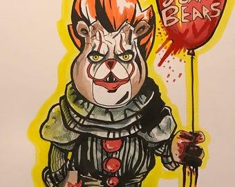 Inktober 2017 Scare Bear IT