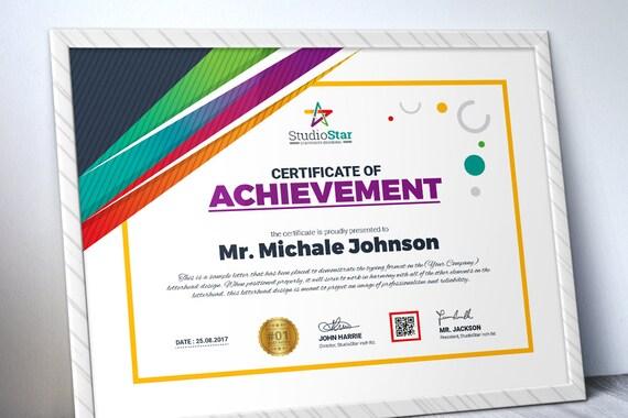 Kreative Vorlage Mehrzweck-Zertifikat-Vorlage Druckbare