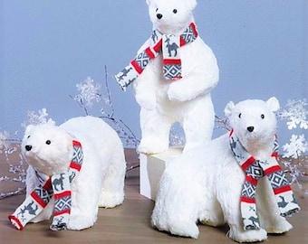 Raz Imports 16'' Polar Bear with Scarf (Set of 3) RAZ3603447