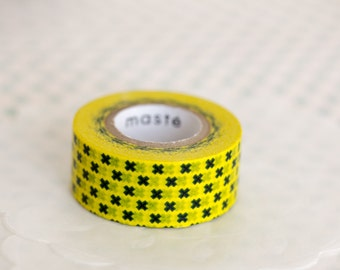 Masking tape, washi tape black / yellow Masté MT 15mm x 7m