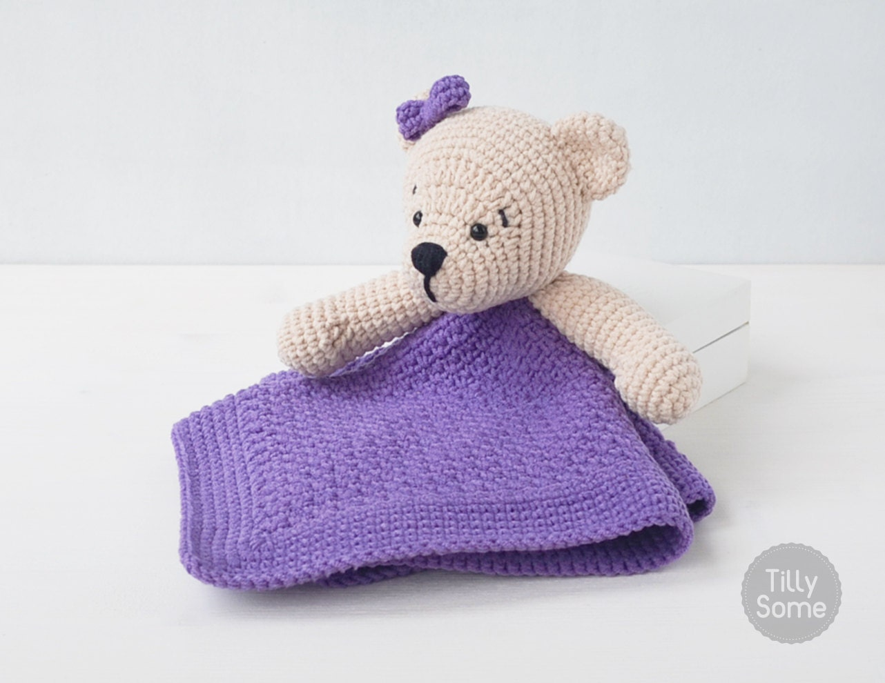 Teddy Bear Lovey Pattern Security Blanket Crochet Lovey