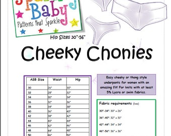ASB Women's Cheeky Chonies No Show Style Sexy Underwear in 14 sizes! Perfect for under leggings, super fast and easy!