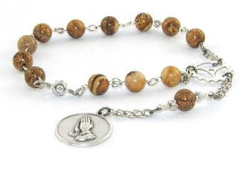 Recovery Prayer and Meditation Beads, 12 Step Serenity Prayer Beads